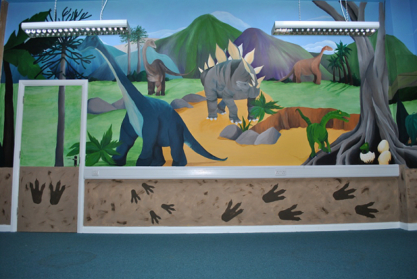 Children 39 s wall murals inspired spaces for Dinosaur wall mural uk