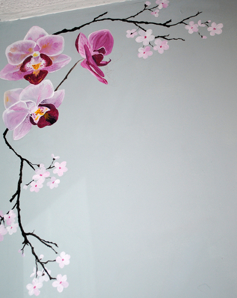 oriental mural inspired spaces silver leafed chinoiserie wall mural mura 1001