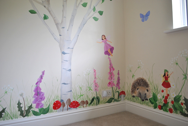 Fairy mural inspired spaces for Fairy wall mural