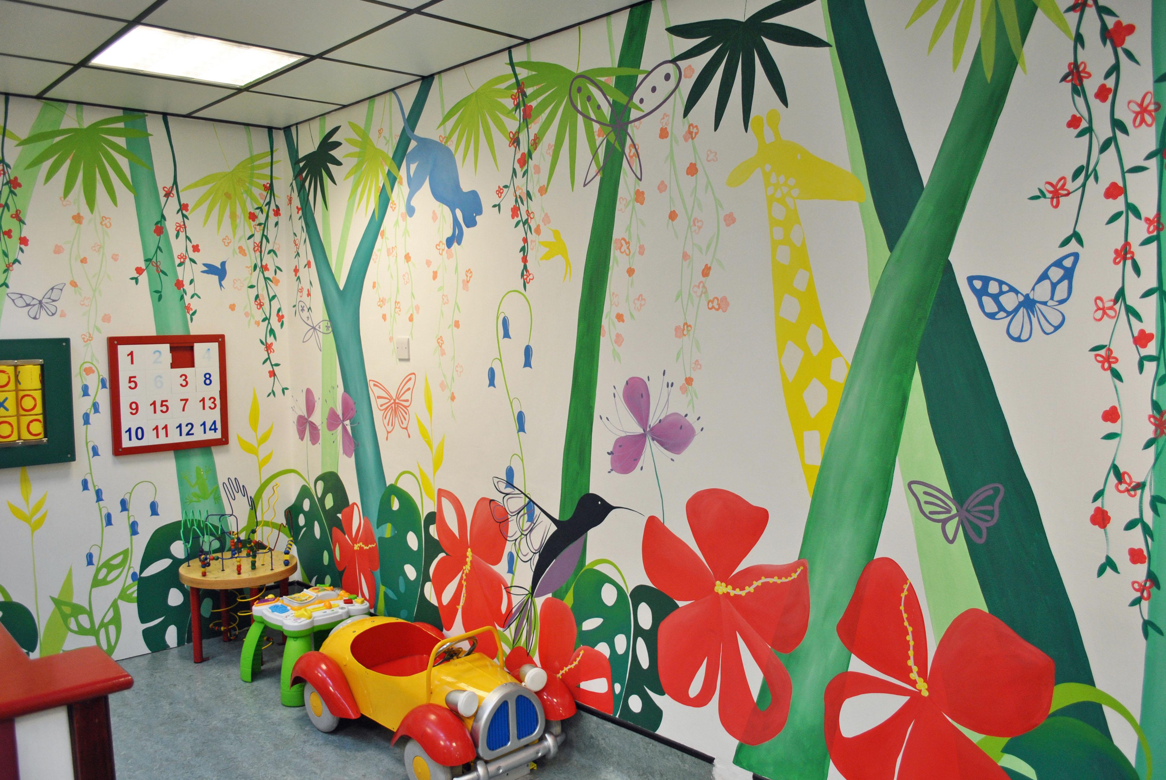 Children 39 s hospital mural inspired spaces for Children s mural