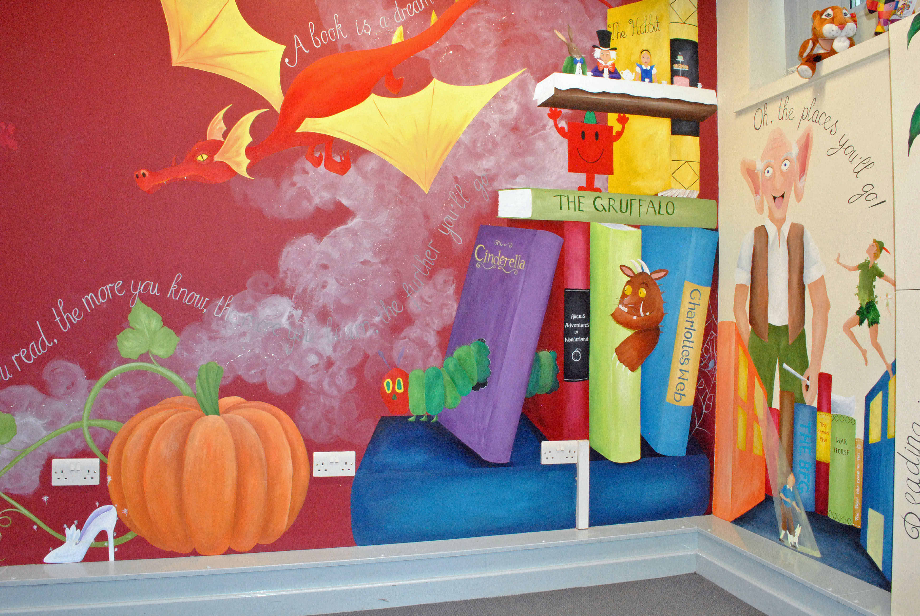 school library mural inspired spaces