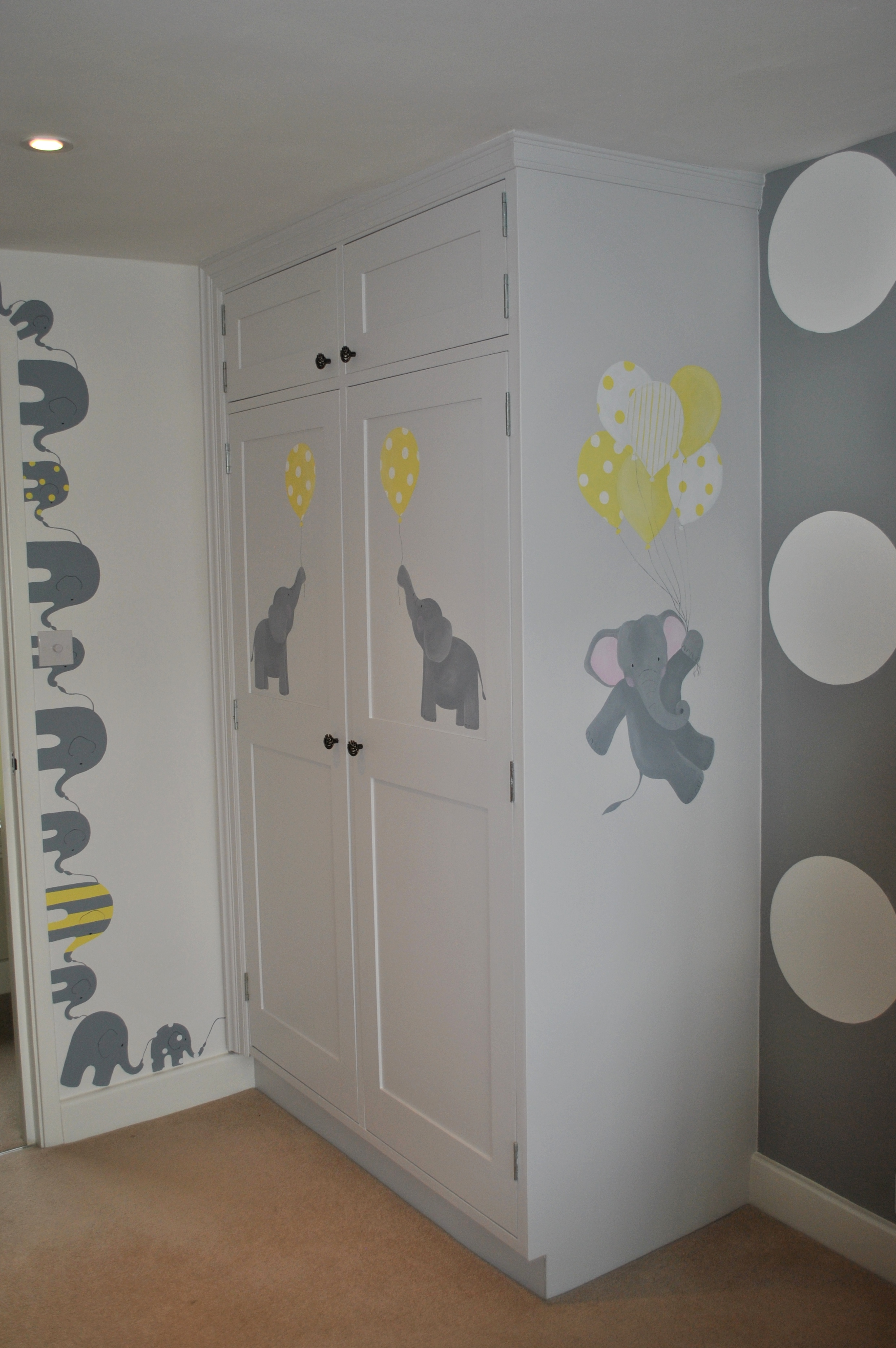children s wall murals inspired spaces baby nursery mural with elephant theme