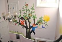 Nursery Stairwell Tree Mural