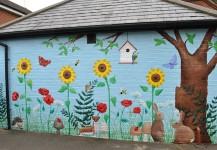 Exterior Nursery Garden Mural