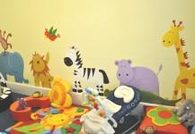 Baby Nursery Animal Mural