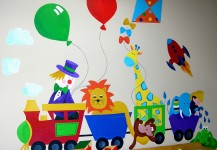 Toy Train Mural