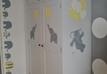 Baby Nursery Mural With Elephant Theme
